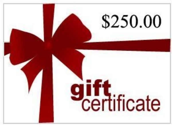 Picture of Gift Certificate for $250